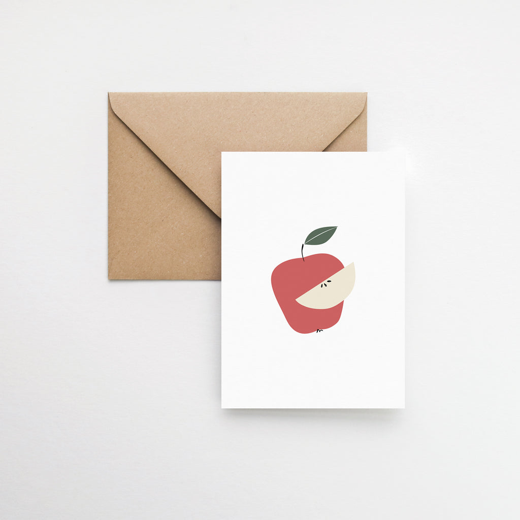 red apple birthday card elemente design