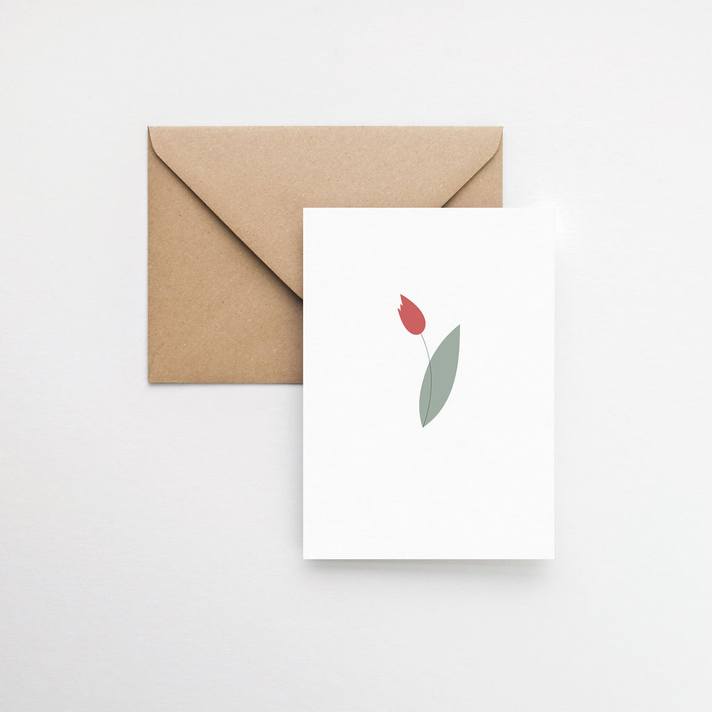 Tulip flower card elemente design