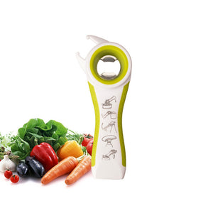 bottle opener Home Kitchen Multi-function 5 in 1 Bottles Jars Can Opener - Saikin-rettou