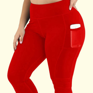 Women High Waist Capri With Pockets - OneWorldDeals