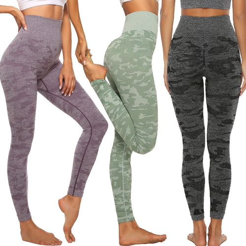 Women's High Waist Camouflage Leggings - Saikin-rettou