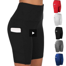 Load image into Gallery viewer, Women High Waist Short Leggings With Pocket - OneWorldDeals