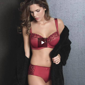 Semi-Sheer Full Figure Bra Fine Embroidery Sassa - Saikin-rettou