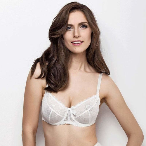 Bridal Full Figure Sheer Lace Bra Lauma Sparkling - OneWorldDeals