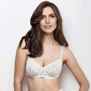 Bridal Full Figure Sheer Lace Bra Lauma Sparkling - Mcburneyjunction