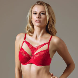Full Coverage Lace Cage Bra Lauma Rouge - Mcburneyjunction