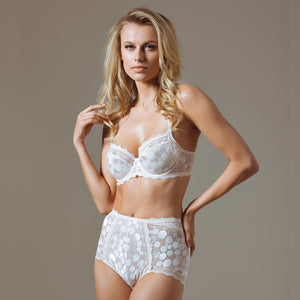 Polka Dot High Waist Brief Panty Lauma Pearly - Mcburneyjunction