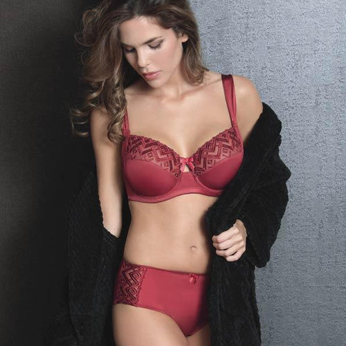 Semi-Sheer Full Figure Bra Fine Embroidery Sassa - Mcburneyjunction