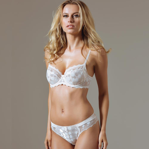Semi Sheer Full Figure Lace Bra - OneWorldDeals