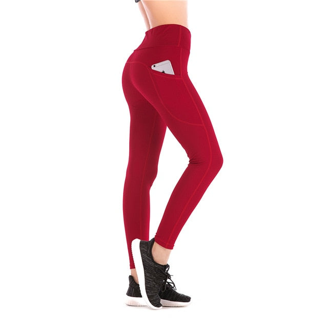 Women High Waist Leggings with Pocket - OneWorldDeals