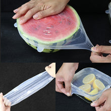 Load image into Gallery viewer, 6 PCS Silicone Bowl Stretch Lids Reusable Airtight Food Wrap Covers - Saikin-rettou