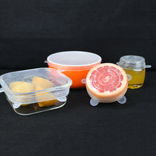 Load image into Gallery viewer, 6 PCS Silicone Bowl Stretch Lids Reusable Airtight Food Wrap Covers - OneWorldDeals