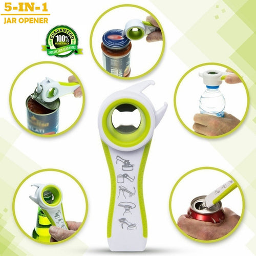5 in 1 Opener Multi Function Twist Bottle Opener - OneWorldDeals