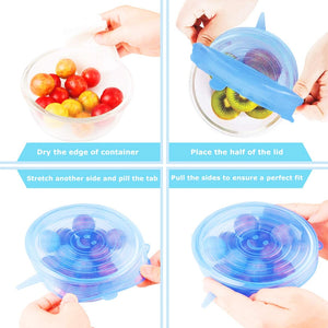 Silicone Stretch Lids Reusable Seal Lids Food Covers - Mcburneyjunction