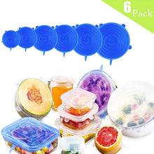 Load image into Gallery viewer, Silicone Stretch Lids Reusable Seal Lids Food Covers - Mcburneyjunction