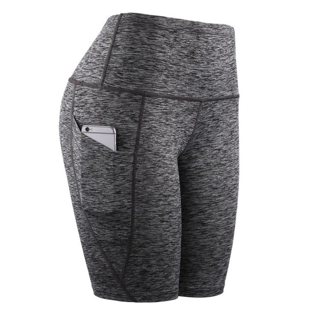 High Waist Short Leggings With Pocket - OneWorldDeals