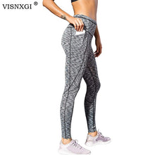 Load image into Gallery viewer, High Waist Ankle-Length Leggings With Pocket - OneWorldDeals