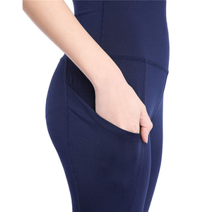 High Waist Ankle-Length Leggings With Pocket - OneWorldDeals
