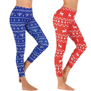 Womens High Waist Seamless Holiday Leggings - OneWorldDeals
