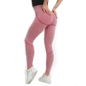 Womens Seamless Tummy Control High Waist Leggings - Saikin-rettou