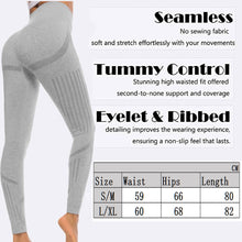 Load image into Gallery viewer, Womens Seamless Tummy Control High Waist Leggings - Saikin-rettou