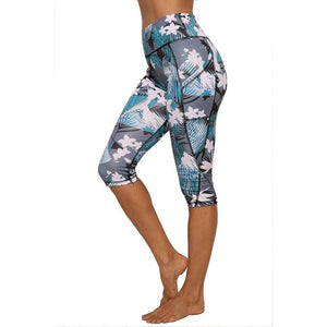 Women Calf-length Leggings With Pockets - Mcburneyjunction