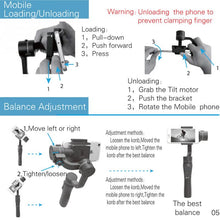 Load image into Gallery viewer, Gimbal Smartphone Stabilizer - OneWorldDeals