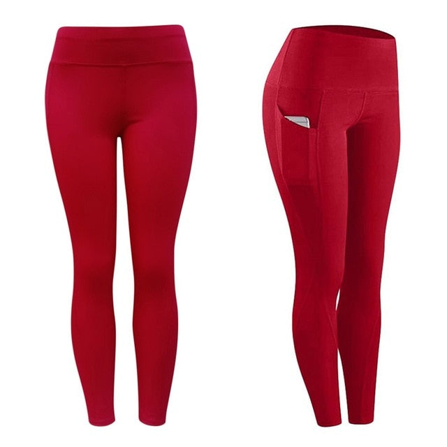 High Waist Ankle-Length Leggings With Pocket - Mcburneyjunction