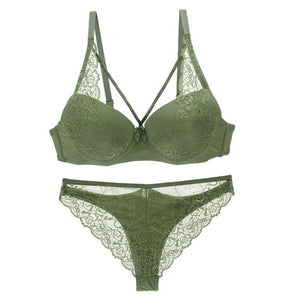 Womens lingerie Lace Bra + Panty Set - Mcburneyjunction