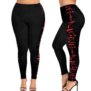Women High Waist Plus Size Leggings - Saikin-rettou