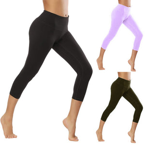 Women's Solid Color Leggings - OneWorldDeals