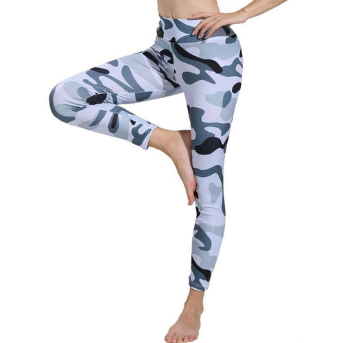 Womens High Waist Camouflage Leggings - Saikin-rettou