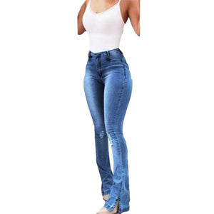 Women High Waist Vintage Jeans - Mcburneyjunction