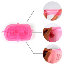 Load image into Gallery viewer, 6 pcs Reusable Silicon Stretch Lids Universal Lid Silicone Food Cover - OneWorldDeals