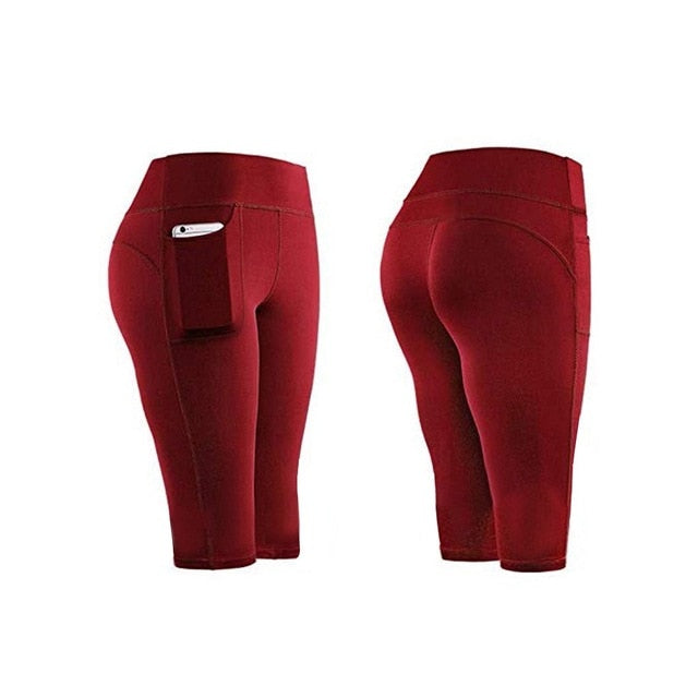 Short Womens Leggings With Pocket - OneWorldDeals