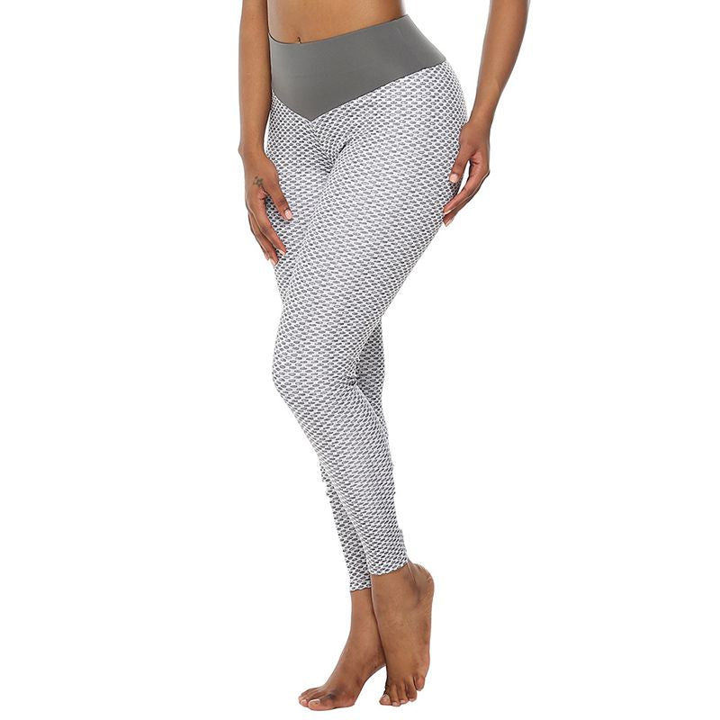 Womens High Waist Fitness Leggings - Saikin-rettou