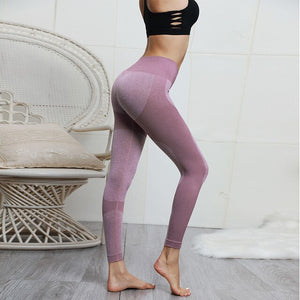 Womens Tummy Control High Waist Leggings - Saikin-rettou