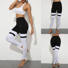 Load image into Gallery viewer, Womens Seamless Black And White Leggings - Mcburneyjunction