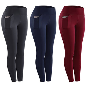 Women's High Waist Leggings With Pocket - OneWorldDeals