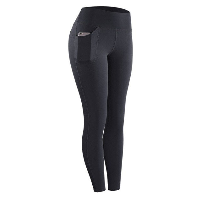 Women's High Waist Leggings With Pocket - Mcburneyjunction