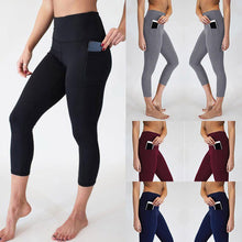 Load image into Gallery viewer, Women's High Waist Leggings With Pocket - OneWorldDeals