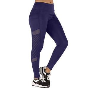 Womens Seamless Tummy Control Leggings With Pocket - Mcburneyjunction