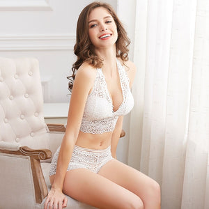 Lace Bra And Boyshort Set - Saikin-rettou