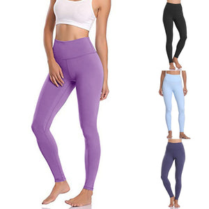 Womens High Waist Leggings With Pocket - Saikin-rettou