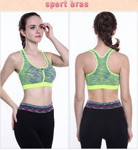 Load image into Gallery viewer, Sports Bra With Zipper - OneWorldDeals