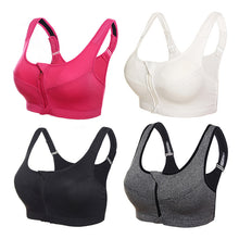 Load image into Gallery viewer, Sports Bra With Front Zipper - Mcburneyjunction