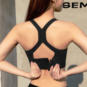 Breathable Sports Bra With Front Zipper - Mcburneyjunction