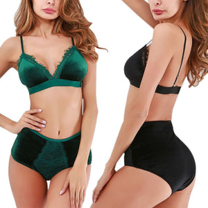 High Waist Panties And Bra Set - OneWorldDeals