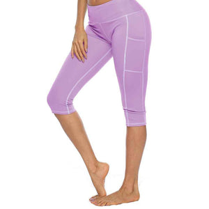 High Waist Capri With Pocket - OneWorldDeals