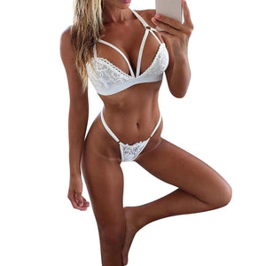 Lingerie Set Lace Bra And G-string - Mcburneyjunction
